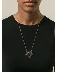 KENZO - Metallic Big 'tiger' Necklace - Lyst