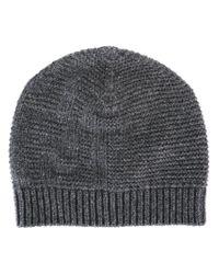 Fendi - Gray Knit Beanie for Men - Lyst