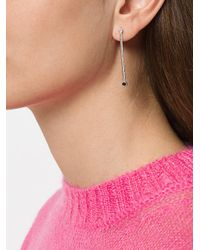 Maya Magal - Metallic Double Stone Drop Earrings - Lyst