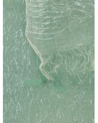Faliero Sarti - Green Colour Contrast Metallic Scarf - Lyst