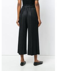 Pleats Please Issey Miyake | Black High Waisted Pleated Culottes | Lyst
