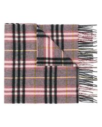 Burberry - Multicolor Check Cashmere Scarf - Lyst