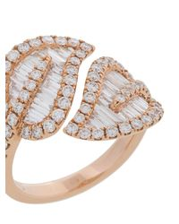 Anita Ko - Metallic Large Leaf Ring - Lyst