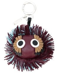 Fendi - Red Fringed Bag Charm - Lyst