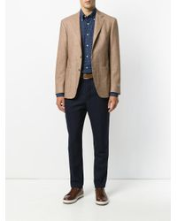 Canali - Blue Paisley Pattern Shirt for Men - Lyst