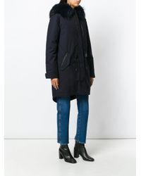 Mackage Black Parka Coat With Rabbit Fur Lining