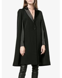 Givenchy - Black Cape Detail Blazer - Lyst