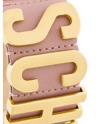 Moschino - Multicolor Bracciale Rigido Con Logo - Lyst