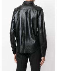 Sonia by Sonia Rykiel - Black Leather Shirt - Lyst