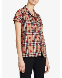 Burberry - Multicolor Polka Dot Check Shirt - Lyst