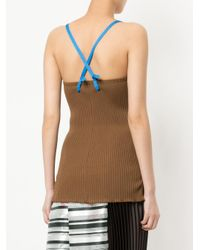 Toga Pulla | Brown Ribbed Top | Lyst