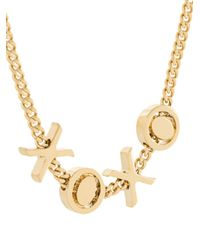 Chloé - Metallic Xoxo Necklace - Lyst