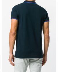 Dondup - Blue Striped Detail Polo Shirt for Men - Lyst