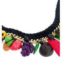 Venessa Arizaga - Black Fruit Rope Necklace - Lyst