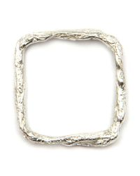 Niza Huang - Metallic 'illusion Square' Ring - Lyst