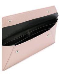 MM6 by Maison Martin Margiela - Pink Pebbled Envelope Wallet - Lyst