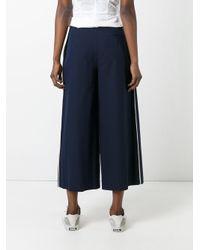 Erika Cavallini Semi Couture - Blue Tailored Culottes - Lyst