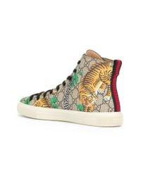 Gucci - Multicolor Bengal Hi-top Sneakers for Men - Lyst