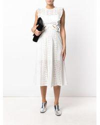 Self-Portrait - White English Embroidery Cutout Dress - Lyst