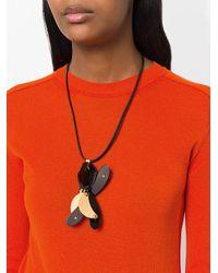 Marni - Black Floral Embellished Necklace - Lyst