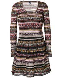 M Missoni - Multicolor Printed Panels Dress - Lyst