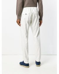 Eleventy White Drawstring Trousers for men
