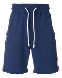 Gcds - Blue Stripe Detail Shorts for Men - Lyst
