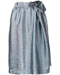 Stella McCartney - Blue Metallic Midi Skirt - Lyst