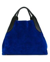 Lanvin - Blue Triangular Tote Bag - Lyst