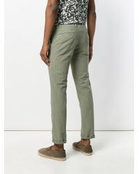 Incotex Green Tailored Fitted Trousers for men
