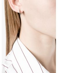 Lizzie Mandler | Metallic 18kt Gold 'huggies' Black Diamond Earrings | Lyst