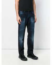 Versace Jeans | Blue Faded Straight Leg Jeans for Men | Lyst