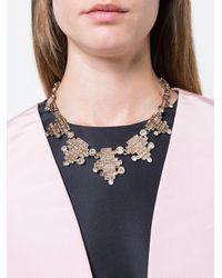 Oscar de la Renta - Multicolor Stacked Crystal Baguette Necklace - Lyst