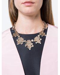 Oscar de la Renta | Multicolor Stacked Crystal Baguette Necklace | Lyst