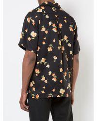 John Elliott - Black Floral Printed Shirt for Men - Lyst