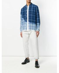Zadig & Voltaire - Blue Checked Shirt for Men - Lyst