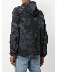 DIESEL - Black Tie Dye Zipped Hoodie for Men - Lyst