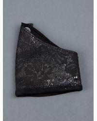 Corlette - Black Leather Cuff - Lyst
