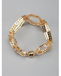 Ca&Lou - Metallic Octagonal Link Bracelet - Lyst
