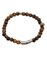 Tateossian | Brown Tigereye Disc Bracelet for Men | Lyst