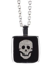 Gavello - Metallic Skull Pendant Necklace - Lyst