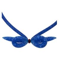 Peppercotton | Blue Bow Necklace | Lyst