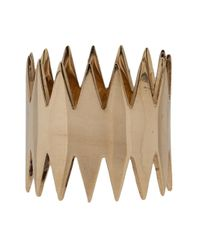 Annelise Michelson - Brown 'double Carnivore' Ring - Lyst