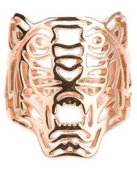 KENZO - Metallic 'tiger' Ring - Lyst