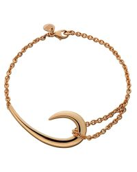 Shaun Leane | Metallic Sterling Silver And Rose Gold-plate Hook Bracelet | Lyst