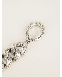 King Baby Studio - Gray Engraved Link Bracelet - Lyst