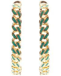 Aurelie Bidermann - Green 'waikiki' Hoop Earrings - Lyst