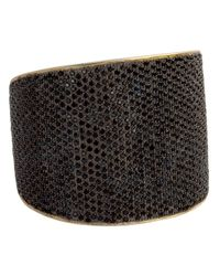 Tom Binns | Black Bejewelled Statement Cuff | Lyst