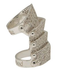 Vivienne Westwood | Gray Hinged Armor Ring | Lyst