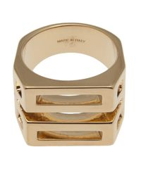Chloé | Metallic Chloé Chunky Cut-out Ring | Lyst
